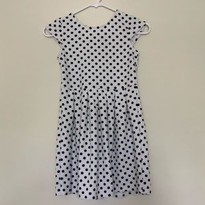 Jessica Simpson White Black Polka Dot Short Dress